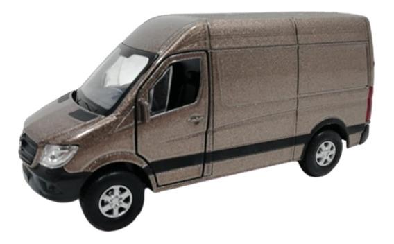 Camioneta Welly 1:36 Mercedes Benz Sprinter Marron 43730