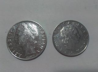 Moneda Italiana L50 Y L100 1974-1975, Perfectas.