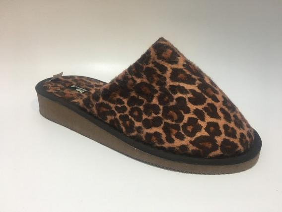Pantufla Dama Micropolar Leopardo