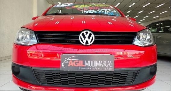 Volkswagen Fox 1.0 Trend Único Dono 2014 Vermelho
