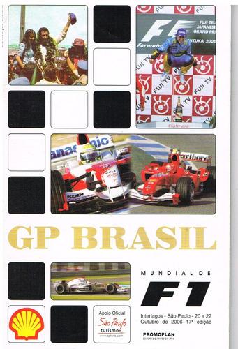Revista Guia Gp Brasil Mundial De F1 Número 17 - 2006
