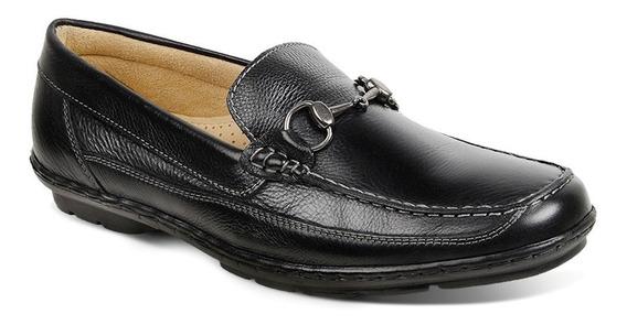 Sapato Masculino Mocassim Sandro Moscoloni Boston Preto