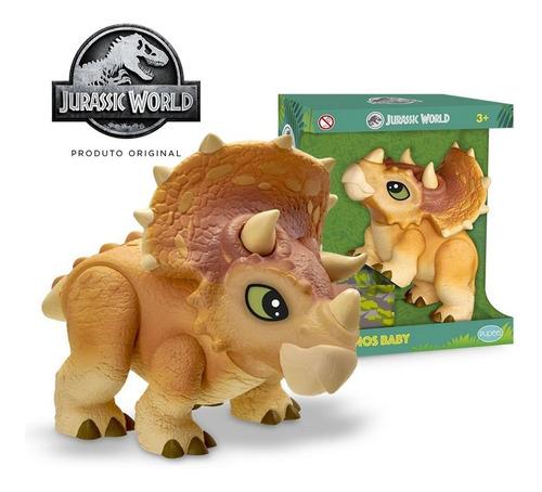 Imagem 1 de 6 de Dinossauro Triceratops Dinos Baby Universal Jurassic World