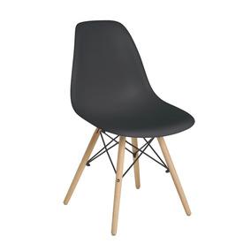 Cadeira Eiffel Base Madeira Preta - Mor 009402