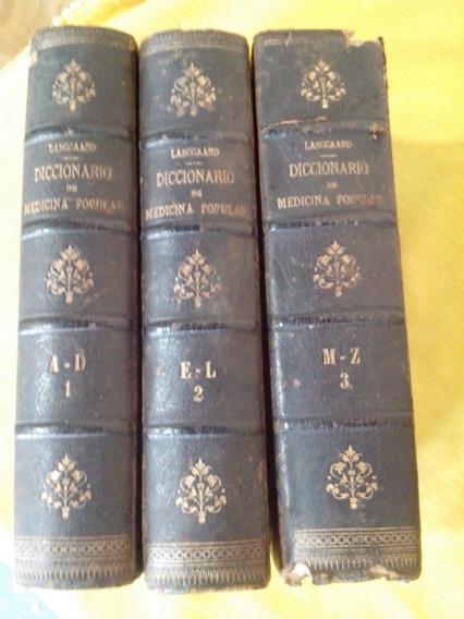 Dicionario De Medicina Popular -ano 1873 Antigo Raro
