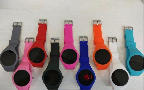 10 Relógios Led Coloridos Unissex Varias Cores Atacado Barat
