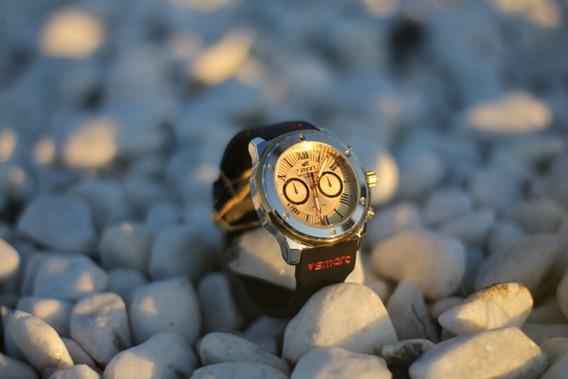 Relógio Masculino Pulseira Borracha Dourado