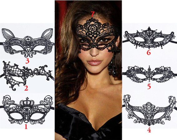 Antifaz Sexy Mascarada Halloween Carnaval Lencería Erótica