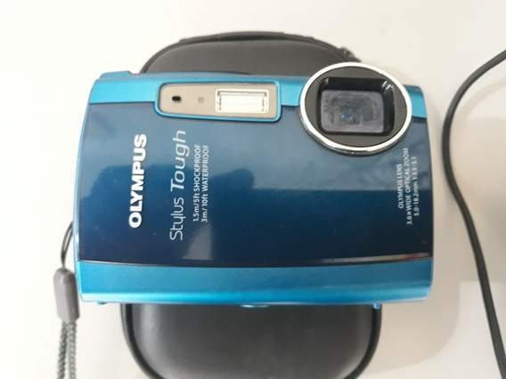 Camera Olympus Stylus Tough A Prova Dagua, Neve E Choque