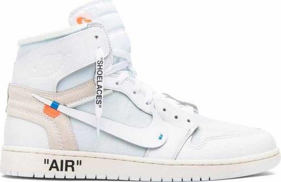 Tênis Nike Off-white 1 Retro High Og White Original