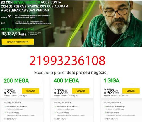 Imagem 1 de 1 de A Melhor Internet Do Brasil Está De Volta, Oi Fibra