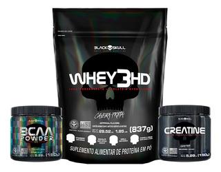 Combo Whey 3 Hd + Bcaa Powder + Creatina