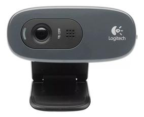 Webcam Hd 720p Logitech C270 Usb Com Microfone
