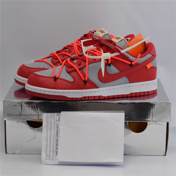 Nike Dunk Low Off White University Red (41 Br)
