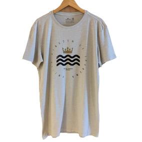 ( G ) Camiseta Osklen Rough Uki Elements - Bege Claro