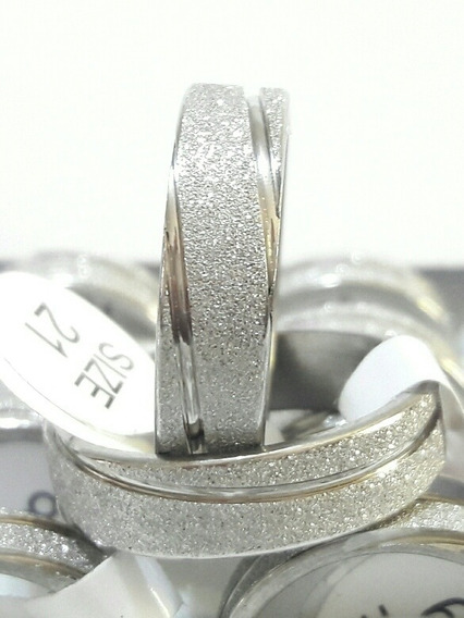Aliança Aço Inox 6mm Prateada Cx Com 36pçs