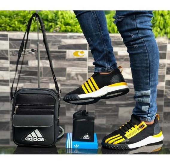 Zapatos Deportivo Para Caballero (combo 3 Pzas)