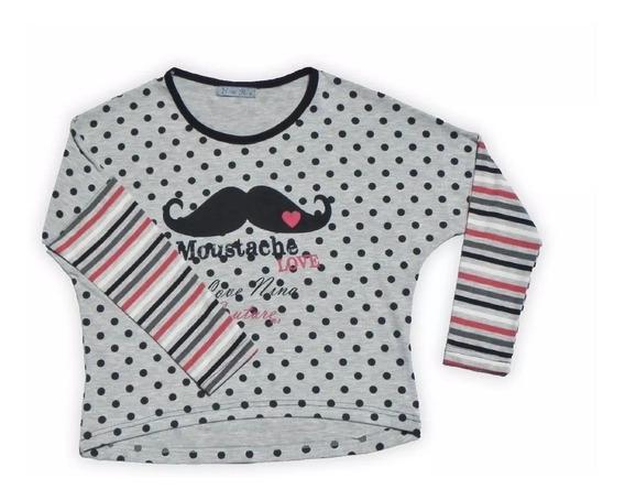 Remera Nena Moustache Invierno