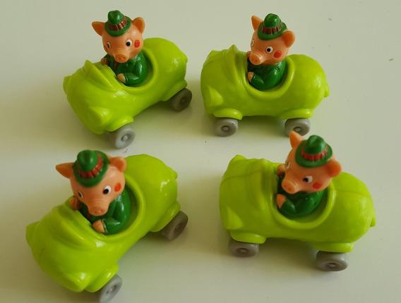 Lote 3 Porquinhos Antigos Carros- Miniaturas - 5 Cm