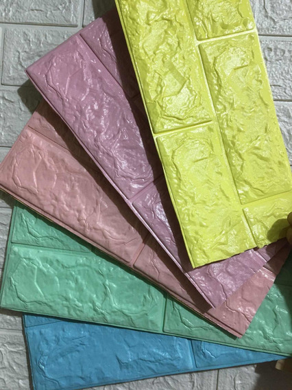 Tapiz Para Pared 3d Pe ( 25 Pcs *purpura/ Pistache/ Rosa)