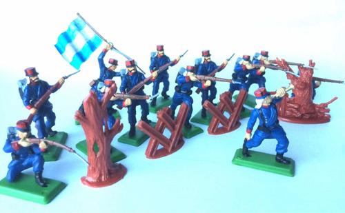 Soldados De Plástico Fortineros Argentinos + Accesorios