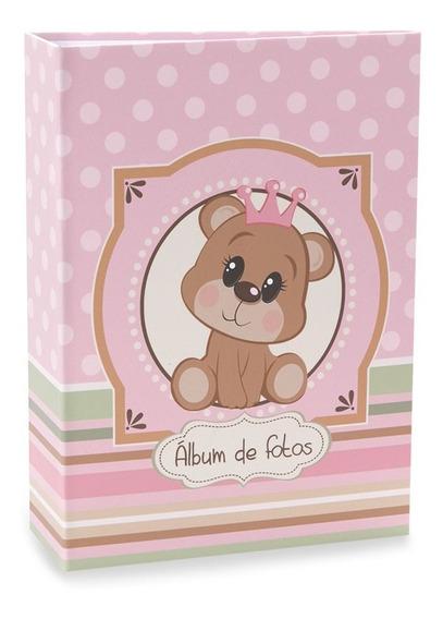 Álbum De Bebê Rebite Solda Ursinho Menina 120 Fotos 10x15