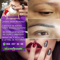 Cejas Micropigmentacion+lifting Pestañas O Manicure Y Pedicu
