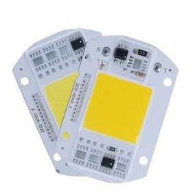 2 Chip Led Refletor 50w 110v Branco Frio Reator Embutido