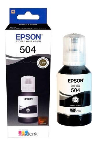 Botellas De Tinta Epson T504 Negro