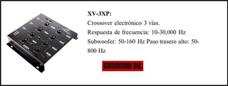 Croosover 3 Vias Xv-3xp Audiopipe