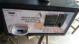 Maquina De Troca Cedula/ Dinheiro Por Moeda /ficha