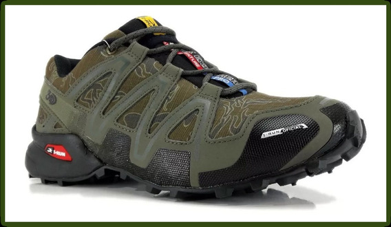 Zapatillas I-run 3d . Trekking . Verde Militar