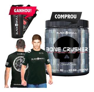Bone Crusher 300g + Camiseta + Shaker - Black Skull Usa