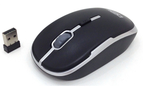 Mouse Óptico S/ Fio Wireless Usb 2.4ghz Pc Tv E Notbook