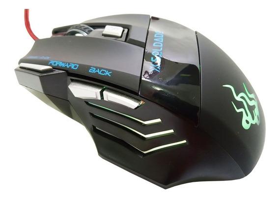 Mouse Gamer X Soldado Gm-700 Botão Fire Double Click Fps