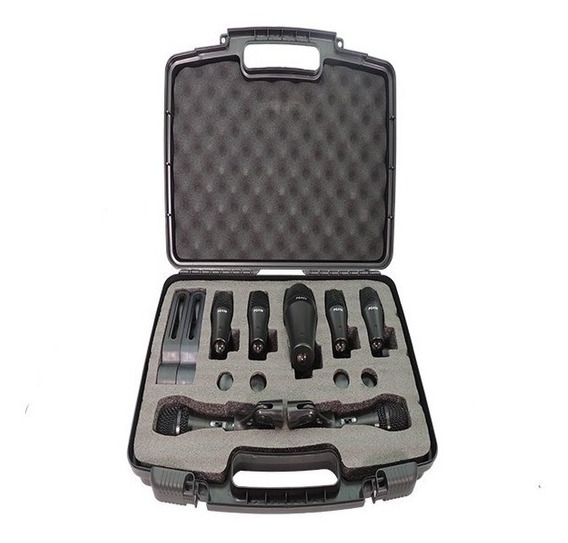 Kit De 7 Microfones Para Bateria Dmk7