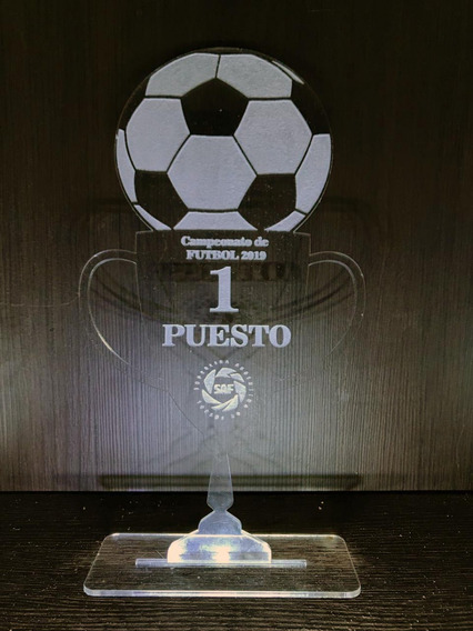 Trofeo Acrílico Cristal 15 Cm Personalizado Láser