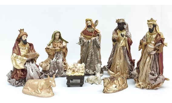 Pesebre Navidad Artesanal 9 Pzas # 31152 - Sheshu Navidad
