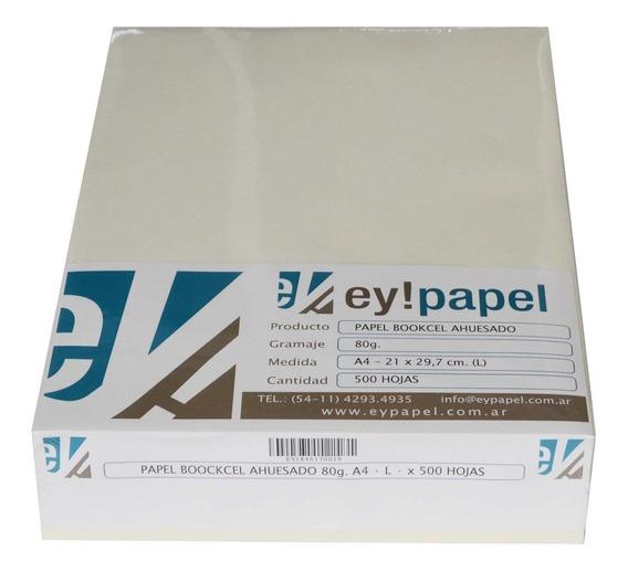 Papel Bookcel Ahuesado De 80 Grs. A4 (fibra Larga) X 500 H.