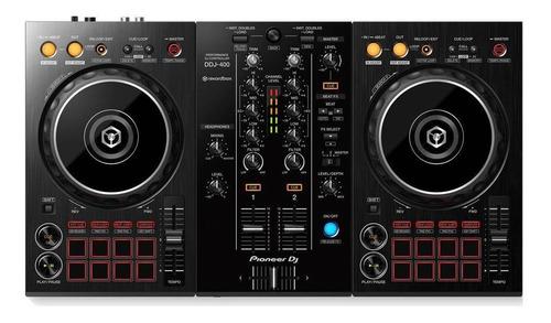 Imagen 1 de 3 de Controlador DJ Pioneer DDJ-400 negro de 2 canales
