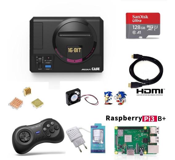 Mega Drive Mini Sistema Instalado Sd 128gb 1 Controle M30