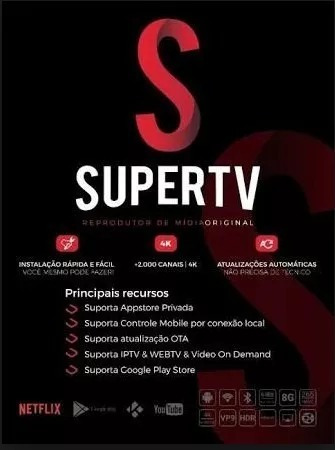 Supert Tv Black