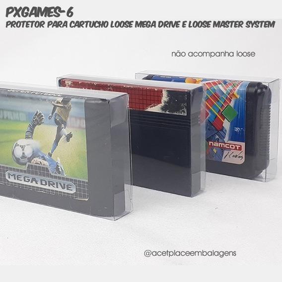 Pxgames-6 Caixa P/cartucho Loose Megadrive/mastersystem 10un