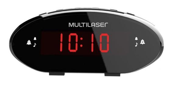 Rádio Relógio Despertador Multilaser Radio Fm Com Bluetooth
