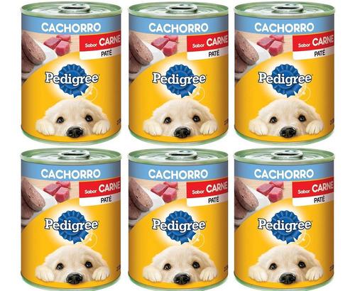 Comida Perro Pedigree Pate 340g (6 Unidades) Cachorros
