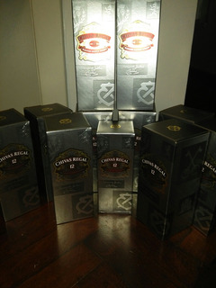 Lote De 8 Botellas Vacias Chivas Regal 750 Ml