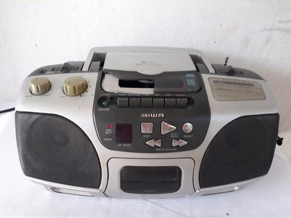 Rádio Cassete Cd Micro Sistem Aiwa Portátil Csd Es227u C1484