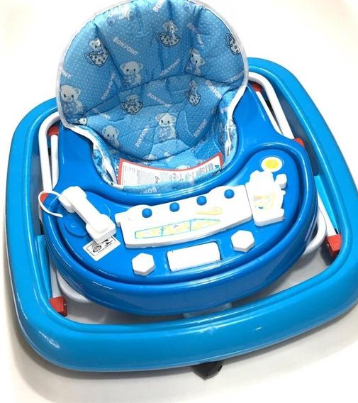 Andador Infantil Baby Articulado 8 Rodas Azul Menino