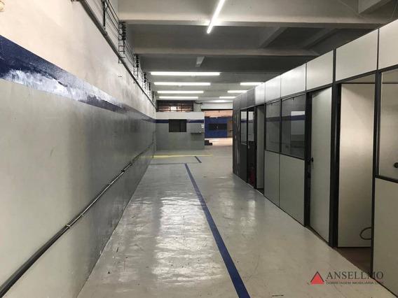 Galpão Para Alugar, 440 M² Por R$ 6.600,00/mês - Centro - São Bernardo Do Campo/sp - Ga0343