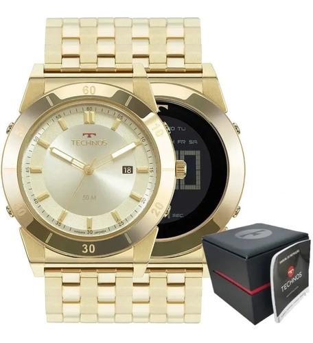 Relógio Technos Masculino Curvas Dourado 1s13cq/4x